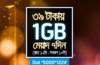 GP 1GB Internet Package 39TK