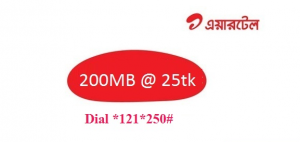 Airtel 200 MB Internet at 25TK With Validity 3 Days
