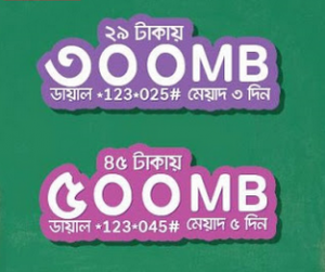 Airtel Jhakas Internet offer 2017, Airtel 500 MB 45 TK & 300 MB 29 TK offer