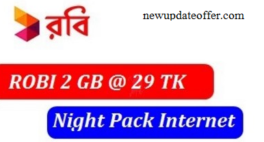Robi 2GB Night Pack