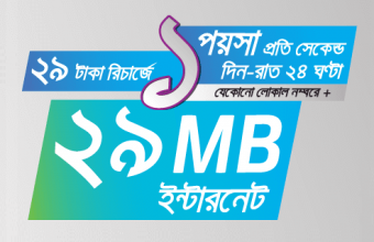 Grameenphone 29 TK Recharge offer 2017