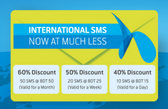 GP International SMS Bundle Pack with Discount offer