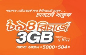 Banglalink 3GB Internet 94TK Offer 2017