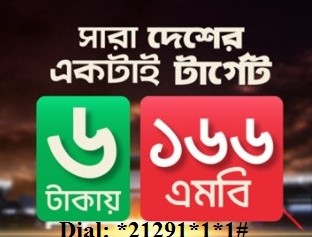Robi 166MB Internet 6TK Offer