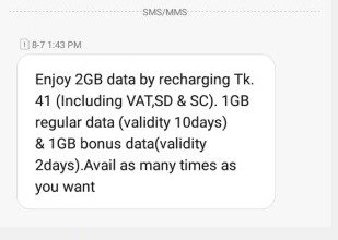 Teletalk 2GB Internet 41 TK Offer