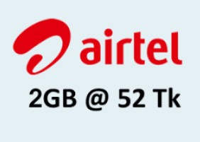 Airtel 2GB Internet 52TK offer