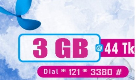 GP 3GB Internet 44TK Offer