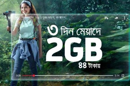 GP 2GB Internet 44TK Offer 2019