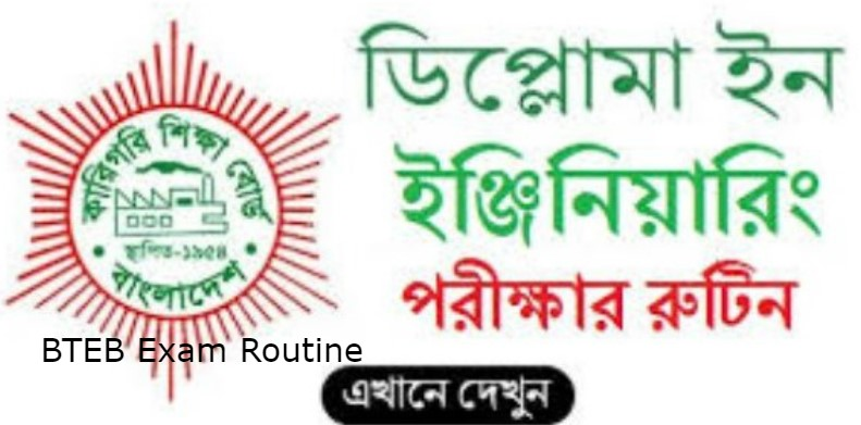 Diploma in Polytechnic Final Exam Routine 2021