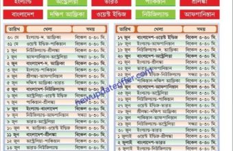 ICC Cricket World Cup Schedule 2019 Bangladesh Time Table