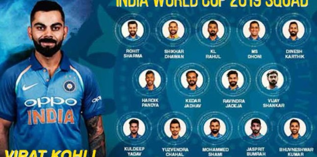 Indian National Cricket Team List