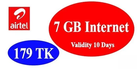 Airtel 7GB Internet 179TK Offer